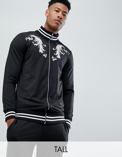 Criminal Damage – Czarna bluza sportowa z barokowym wzorem – Tylko w ASOS