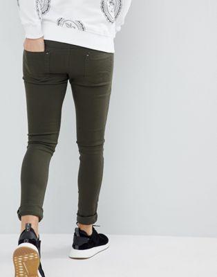Bild 1 von Criminal Damage – Sehr enge Jeans in Olivgrün