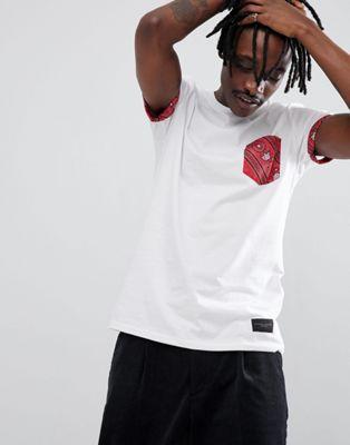 Criminal Damage - T-shirt met paisley-zakje