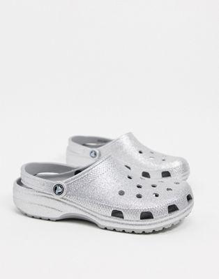 Crocs - Originals - Silbern glitzernde Clogs