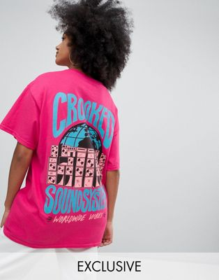 Crooked Tongues oversized t-shirt with sound system print