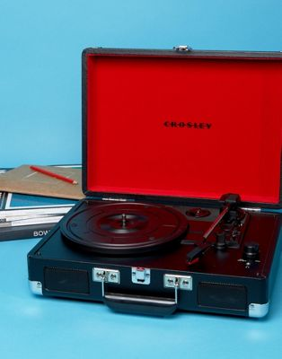 Crosley Cruiser Turntable Record Player In Black