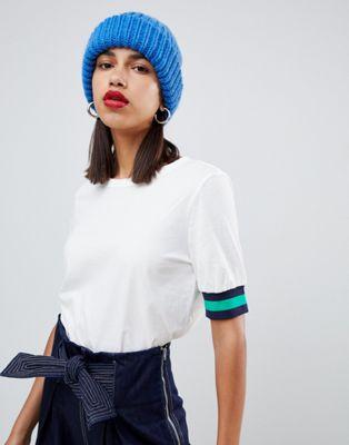 Current Air - T-shirt avec manches rayées