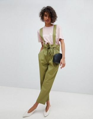 Current Air Utility Pants With Detachable Suspenders