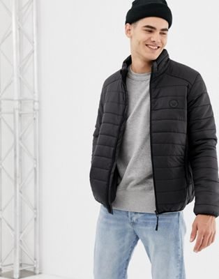D-Struct Quilted Lightweight Funnel Neck Padded Jacket