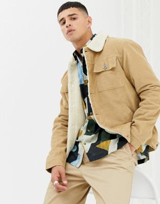 Image 1 of D-Struct Sherpa Lined Cord Trucker Jacket