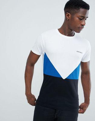 D-Struct – T-shirt z blokami kolorów z przodu i logo