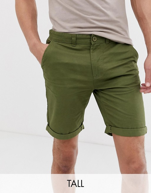 D-Struct Tall - Short chino slim à revers