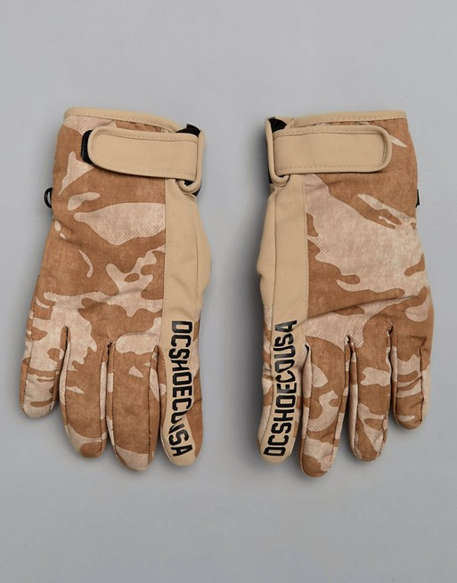 f247339527de DC Shoes Snow Deadeye Gloves in Camo