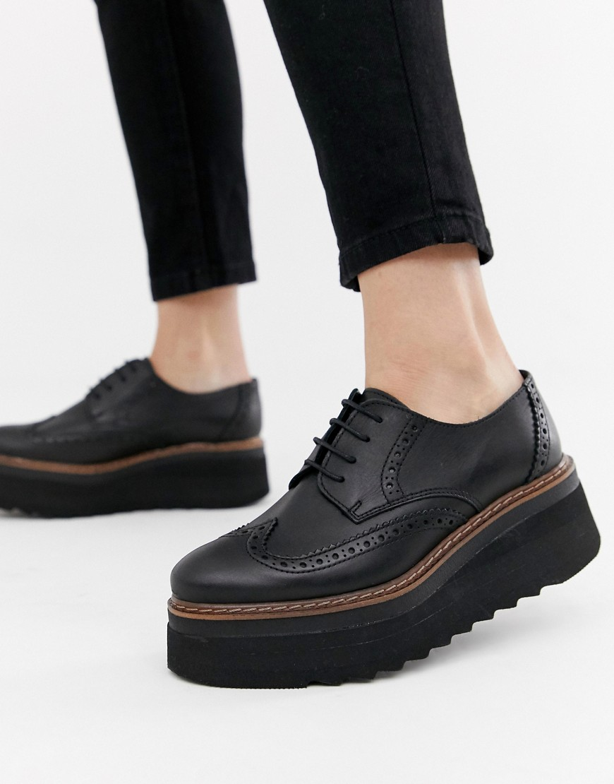 Depp Leather Flatform Brogues by Shoes