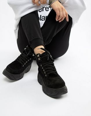 Image 1 of Depp Suede Chunky Sole Hi-Top Sneakers