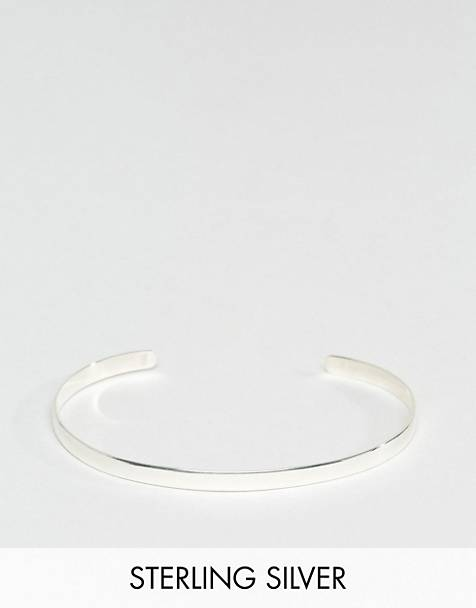 DesignB cuff bangle bracelet in sterling silver exclusive to asos