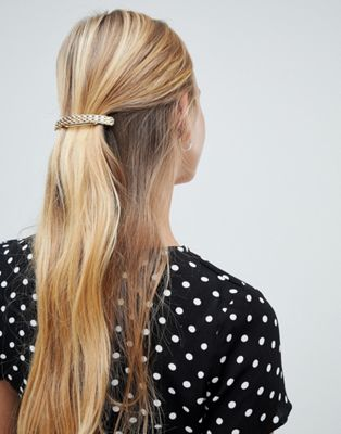 Image 1 of Designb gold chain detail hair clip