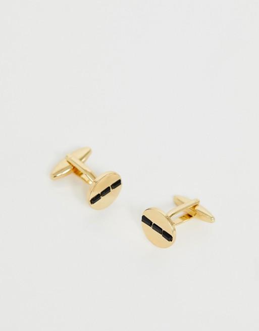 DesignB gold cufflinks