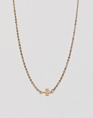 DesignB London Cross Necklace