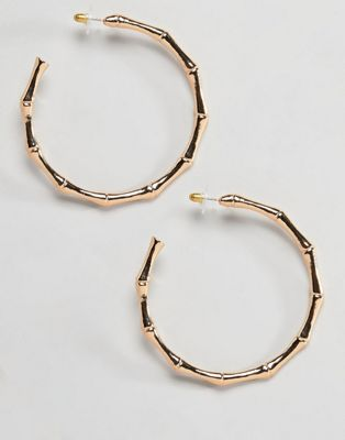 DesignB London Oversized Bamboo Hoop Earrings