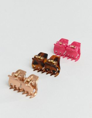 DesignB mini hair claw multi pack