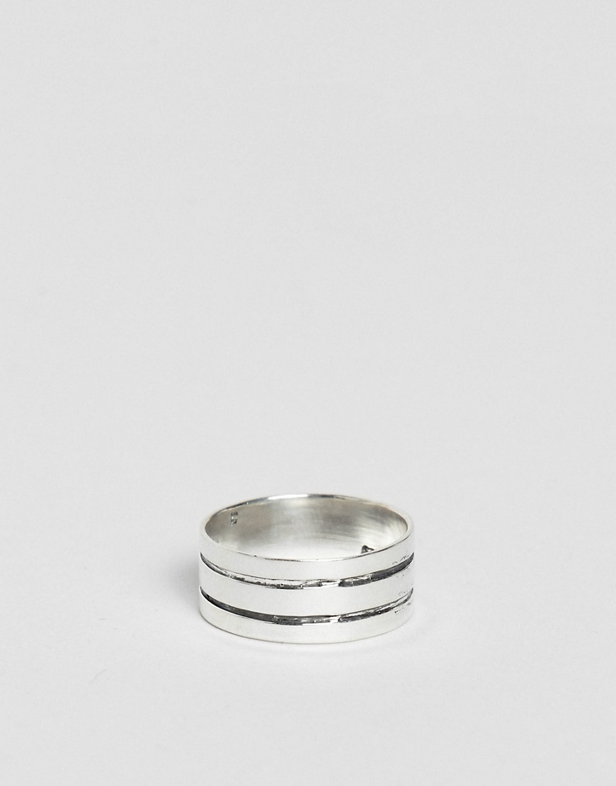 Design B Tri Band Ring In Sterling Silver Exclusive To Asos by Design B