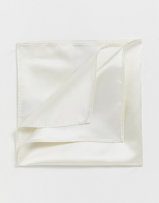 Devils Advocate white pocket square
