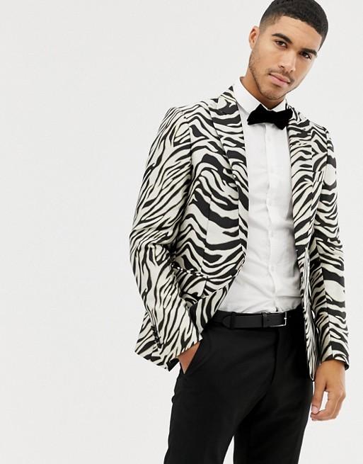 Bild 1 av Devils Advocate – zebramönstrad blazer