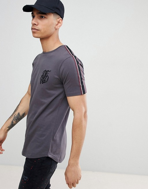 DFND Curved Hem T-Shirt with Sleeve Tape