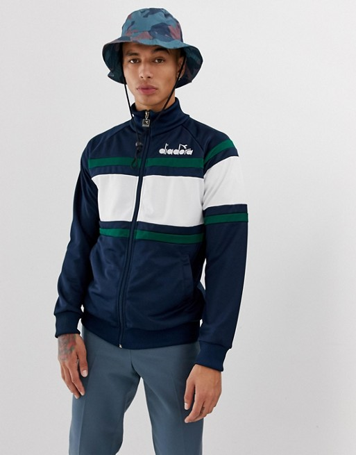 Image 1 of Diadora 5 palle track jacket in navy