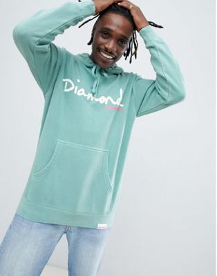 Image 1 of Diamond Supply Hoodie With Script Logo In Blue