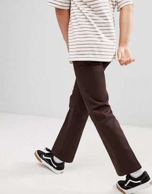 Dickies 873 Work Pant Chino In Straight Fit In Brown