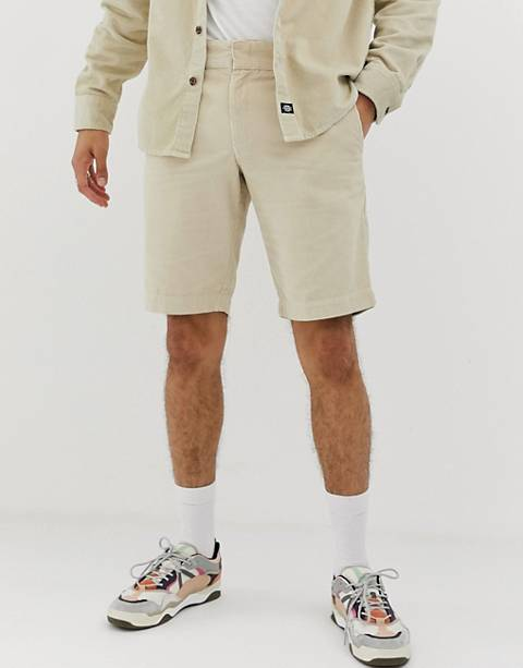 Dickies Fabius cord shorts in stone