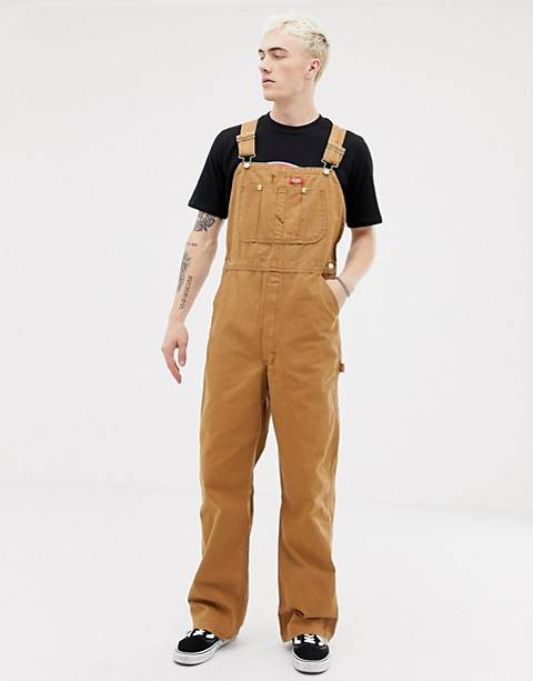 Dickies overalls in brown duck