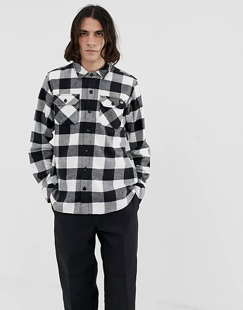 Dickies Sacramento check shirt in black