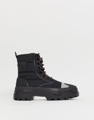 Image 1 of Diesel hiking style boots in black