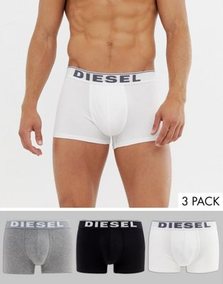 Image 1 sur Diesel - Lot de 3 boxers en coton stretch - Multicolore