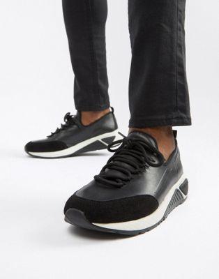 Diesel S-kby runner leather sneakers