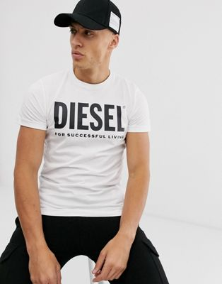 Diesel T-Diego large logo t-shirt in white