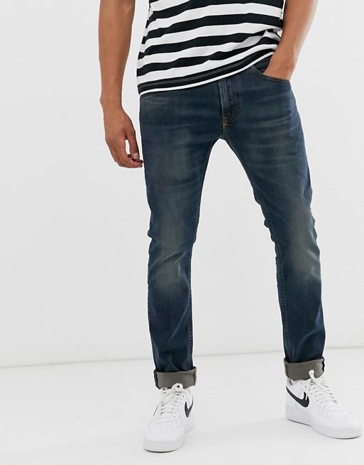Diesel – Thommer – Slim jeans med stretch och 084AU grön tvätt