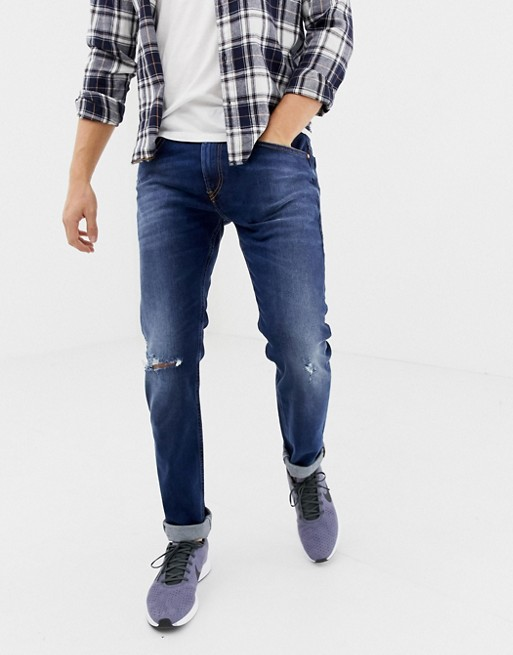 Bild 1 av Diesel – Thommer – Stretchiga slim jeans i 084ZB