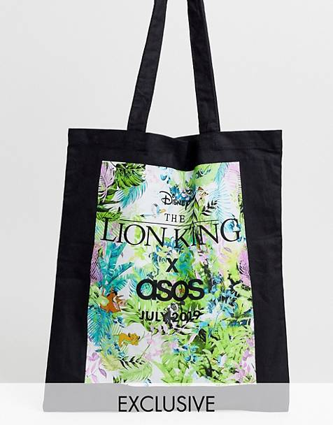 Disney The Lion King x ASOS DESIGN unisex tote bag with limited edition jungle print
