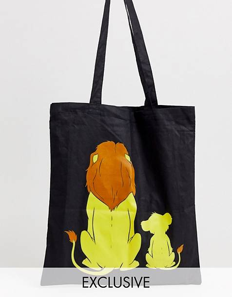 Disney The Lion King x ASOS DESIGN unisex tote bag with Mufasa and Simba print