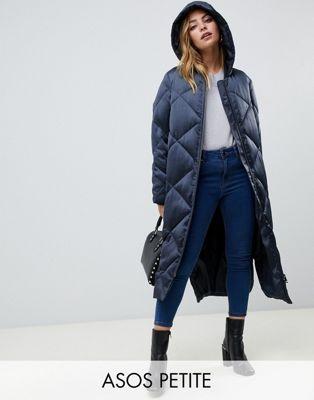 Длинная дутая куртка ASOS DESIGN Petite