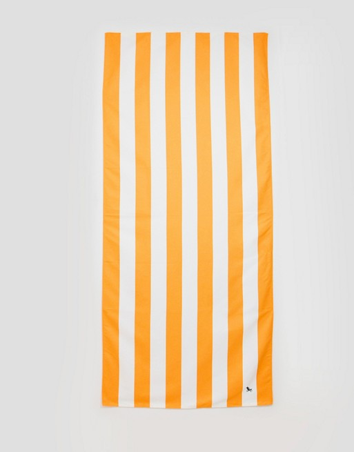 Dock & Bay extra large striped beach towel in orange