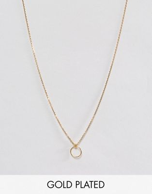 Dogeared Gold Plated Karma Tiny Loop Necklace