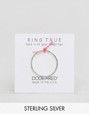 Dogeared – Karma – Glitzernder Ring aus Sterlingsilber