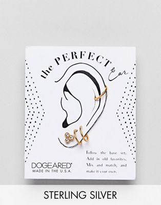 Dogeared Sterling Silver Gold Plated Perfect Ear Layering Pack