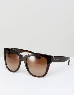 Dolce & Gabbana 0DG4270 Cat Eye Sunglasses In Tort 55mm
