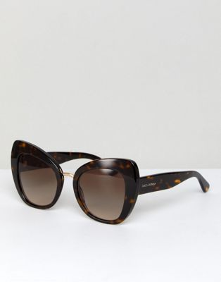 Dolce & Gabbana 0DG4319 Cat Eye Sunglasses In Tort 51mm