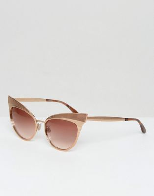 Dolce & Gabbana Cat Eye Sunglasses with Pink Lens