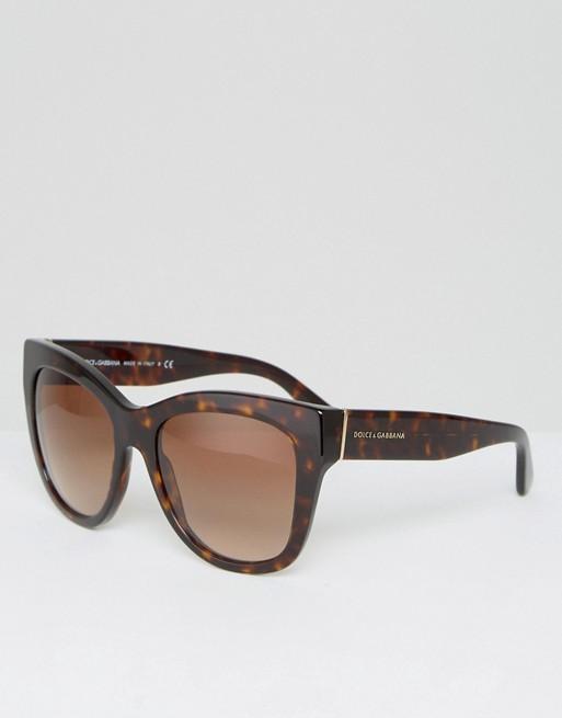 3eb95655d7dc6 Dolce   Gabbana classic cat eye sunglasses in tort