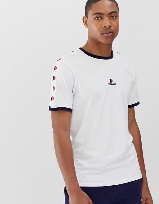 Bild 1 von Donnay – Weißes T-Shirt mit kontrastierenden Abschlüssen