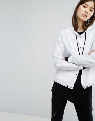 Dr Denim Drawstring Hooded Jacket